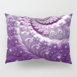Beautiful Bloom of Lilacs Lavender Fractal Spiral Pillow Sham