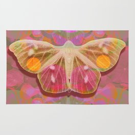Pink Glow Butterfly Rug