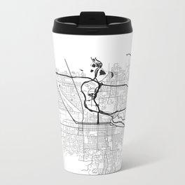 EUGENE MAP PRINT Metal Travel Mug