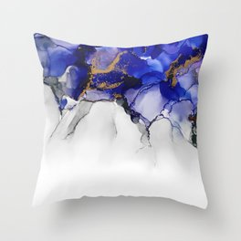 Lightning Blue Throw Pillow