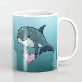 """Love Ya"" by Amber Marine ~ Toon Baby Dolphin Art, (Copyright 2014) Coffee Mug"