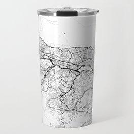 Caracas Map White Travel Mug