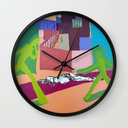 Outside The Walls Wall Clock