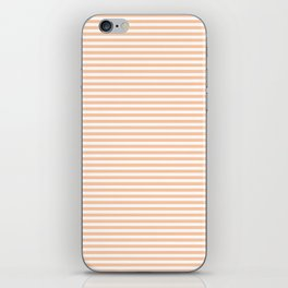 TINY STRIPE ((melon)) iPhone Skin