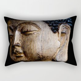 A Buddhist Statue in a Zen Moment with black background Rectangular Pillow