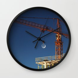 Lifting the Moon Wall Clock