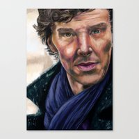 cumberbatch Canvas Prints featuring Benedict Cumberbatch by TCSherlockian