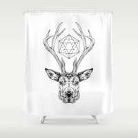stag Shower Curtains featuring Stag by Andy Christofi