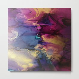 Pour your art out in pink Metal Print