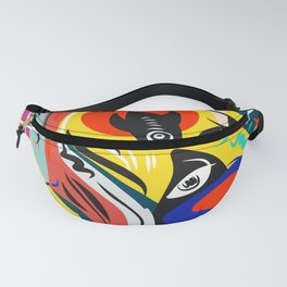 Yellow Life and Love Abstract Art Fanny Pack