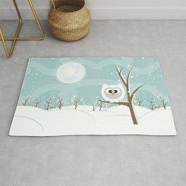 Arctic Owl Rug