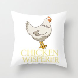 Cute Chicken Whisperer Gift Chickens Print Throw Pillow