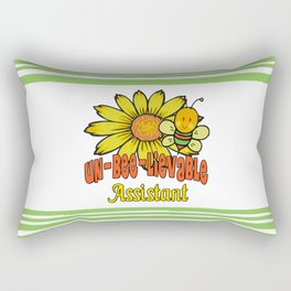 Unbelievable Assistant  Sunflowers and Bees Rectangular Pillow
