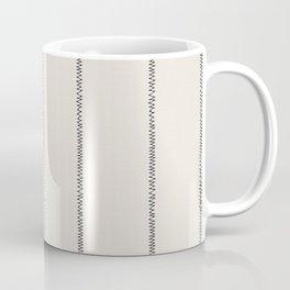 French Cream Linen Stripe Coffee Mug