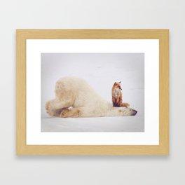 Foxy takedown Framed Art Print