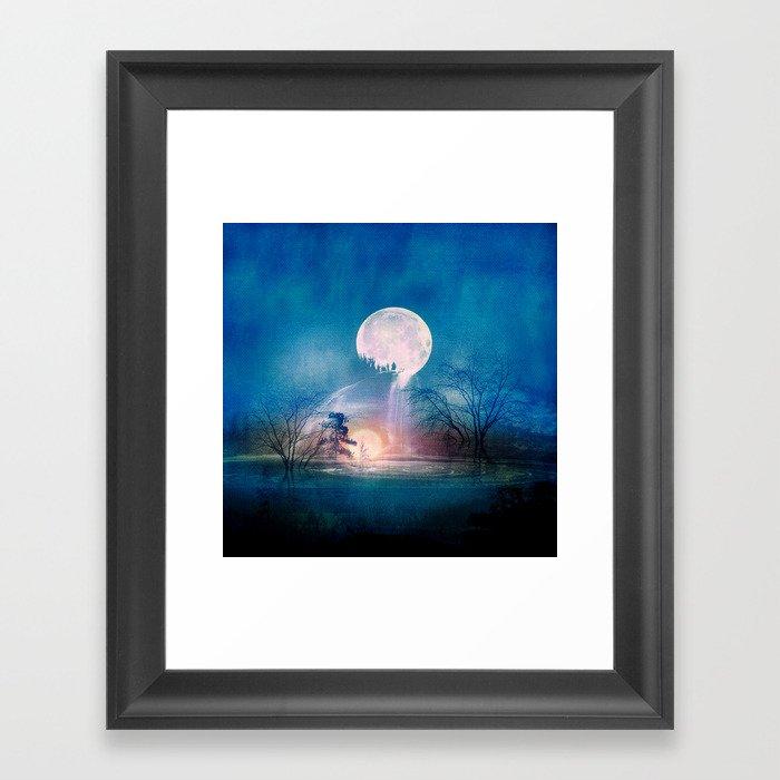 Moon Above, Sun Below Framed Art Print