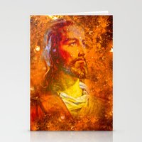 jesus Stationery Cards featuring Jesus by Saundra Myles