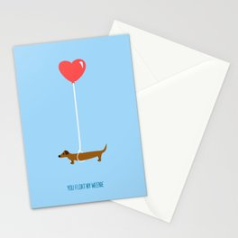 You Float My Weenie Stationery Cards