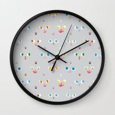 Cat Faces Wall Clock