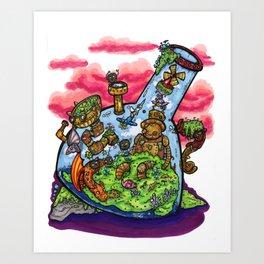 A Very Curious Waterpipe Art Print