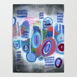 Abstract Drips Poster