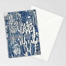 Indigo cacti Stationery Cards