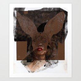 Polaroid Bunny  Art Print