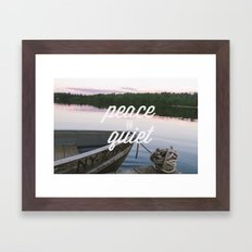 peace & quiet Framed Art Print