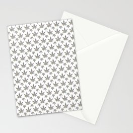 Seamless colorful 420 weed leaf pattern Stationery Cards