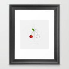 HALF (cherry) LIFE Framed Art Print