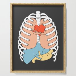 Hugs Keep Us Alive 2 Serving Tray