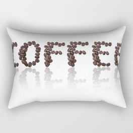 word coffee made from coffee beans Rectangular Pillow