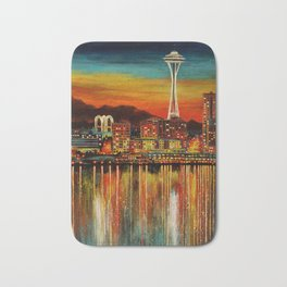 Seattle from Alki Bath Mat
