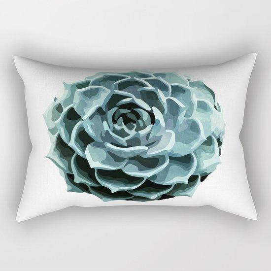 Succulent Echeveria II Rectangular Pillow