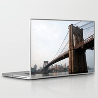 brooklyn bridge Laptop & iPad Skins featuring Brooklyn Bridge by Leslie Philipp