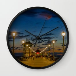 Looking Down the Pier Wall Clock