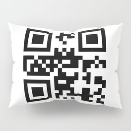 Creative pattern in the style of qr code Pillow Sham