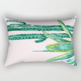 cactus jungle watercolor painting 2 Rectangular Pillow