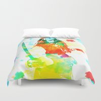 jack sparrow Duvet Covers featuring Water Sparrow by Kramcox