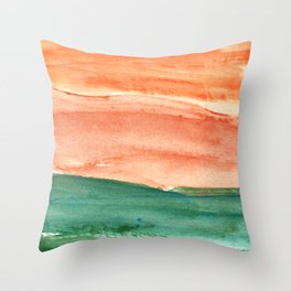 water color abstract painting_9 Throw Pillow