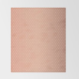 Art Deco, Simple Shapes Pattern 1 [ROSE GOLD] Throw Blanket