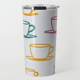 Teacups - multicolored Travel Mug
