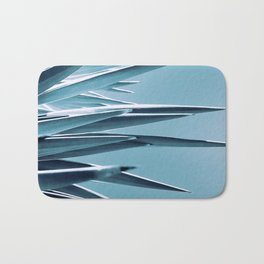 Palm Rays - Duotone Black and Teal Bath Mat