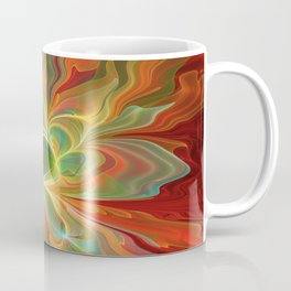 With a lot of Red, Abstract Art Coffee Mug