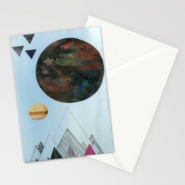 Moons and Mountains Stationery Cards