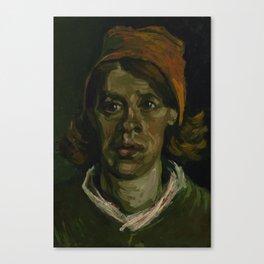 Vincent Van Gogh - Head of a woman Canvas Print