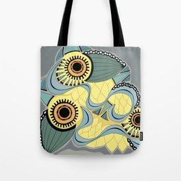 Blue botanical swirl Tote Bag