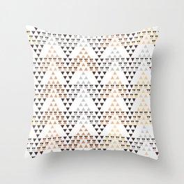 Pyramids pattern Throw Pillow