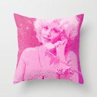dolly parton Throw Pillows featuring Dolly Parton by D Arnold Designs