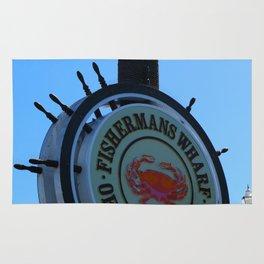 Fisherman´s Wharf Sign Rug